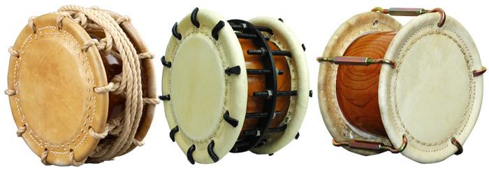 演奏用締太鼓の種類