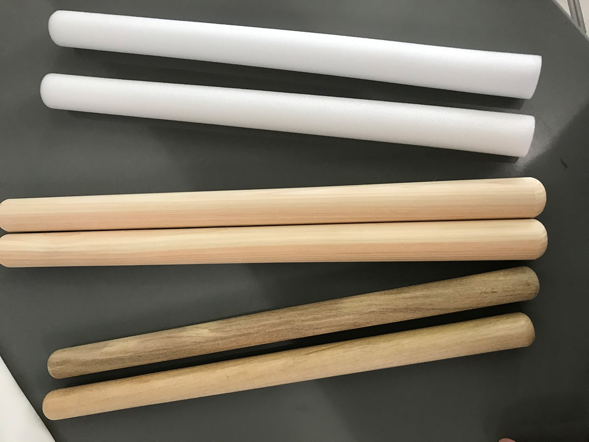 木製のバチと比較1
